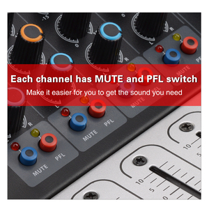 Image 2 - EYK EA80P 8 채널 믹싱 콘솔 2x150 와트/4 옴 전력 증폭기 전문 블루투스 레코드 USB 오디오 믹서 DJ