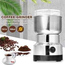 Becornce 150W 300 мл Электрический Кофе машина мельница для бобов блендеры для дома Кухня офисные Нержавеющая сталь 220V Кофе чайник
