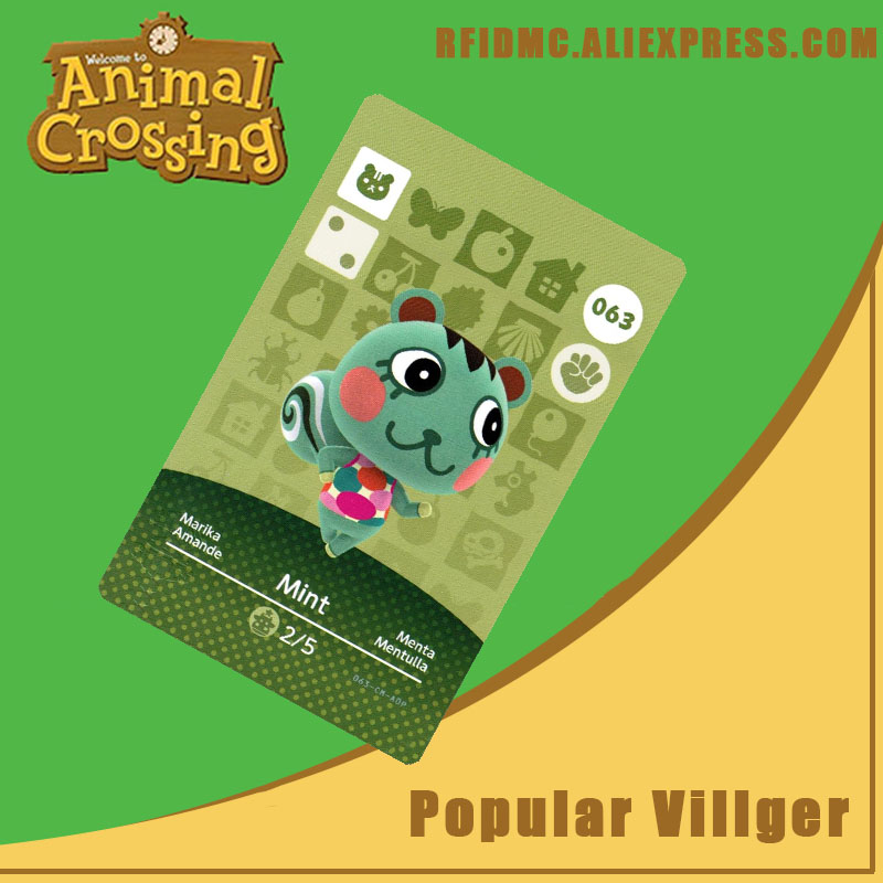 063 Mint Animal Crossing Card Amiibo For New Horizons