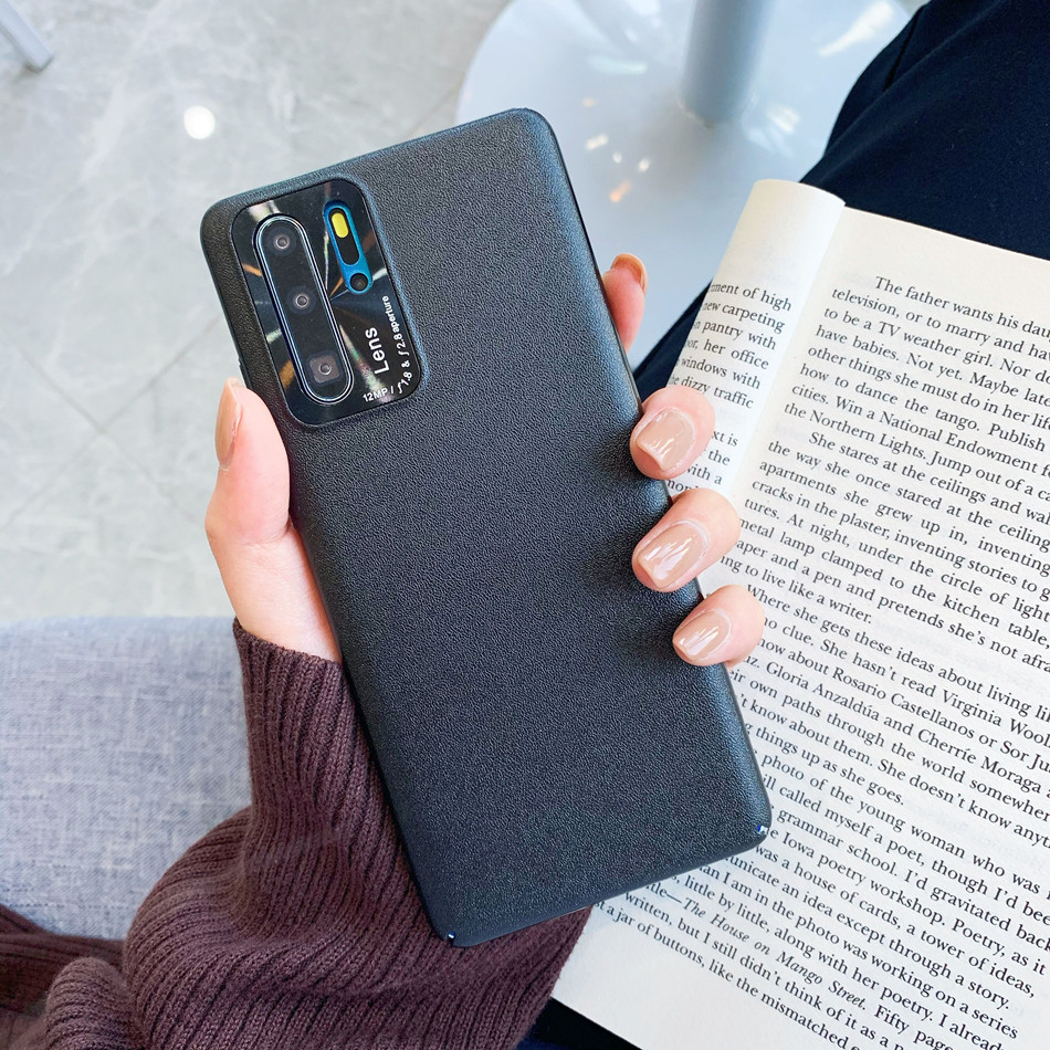 With Camera Lens Protection Case For Huawei P30 P40 Pro V30 Luxury Leather Texture Case On The For Huawei Nova 6 SE Cases Couqe