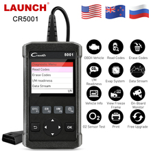 LAUNCH OBD2 Automotive Scanner CR5001 OBD Car Diagnostic Tool LAUNCH X431 OBD2 Engine Code Reader Multi Language Free Upgrade