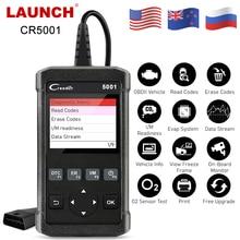 LAUNCH OBD2 Scanner automobile CR5001 OBD voiture outil de Diagnostic lancement X431 OBD2 moteur lecteur de Code Multi langue mise à niveau gratuite