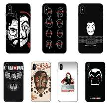 Design High Phone Case Spain Tv Money Heist Mask Poster For Huawei Honor 5A 6A 6C 7A 7C 7X 8 8A 8C 8X 9 9X 10 10i 20 Lite Pro(China)