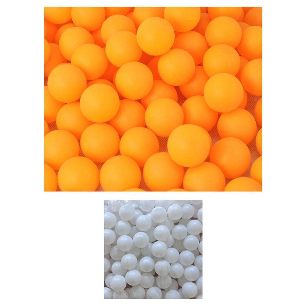 40mm/1.6inch Pack of 150Pcs White Yellow Balls Practice Ping Pong Balls Table Tennis Training Ball Set Lottery Game Advertisemen