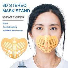 1PC maska uchwyt wielokrotnego użytku pyłoszczelna 3D maska z filtrem nieprzywierająca szminka maseczka higieniczna artefakt maska wewnętrzna wkładka uchwyt na zewnątrz tanie tanio Mask Bracket Inner Cushion Bracket Mask Holder Yellow polypropylene+sponge+silver ion cloth About 9x9x5cm Unisex Reusable Dustproof Washable