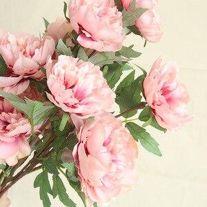 Пион Сан Валентин Регало бонсай бломен шелковые цветы Cadeau цветок Флер Планта искусственный пенопласт