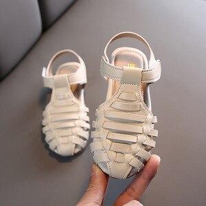 Летние римские сандалии принцессы в винтажном стиле для малышей, платье для маленьких девочек открытые сандалии для детей 1, 2, 3, 4, 5, 6 лет