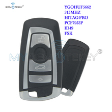 Remtekey YGOHUF5662 315mhz CAS4 4 Button Remote Control Key Fob For BMW X3 5 7 series 2010 2011 2012 plug in start Remote key