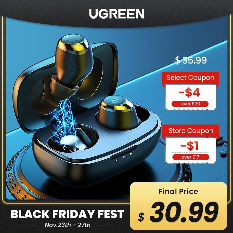 UGREEN HiTune TWS Headphones Wireless Bluetooth Earphones aptX with Qualcomm Chip True Wireless Stereo Earbuds Headset Headphone