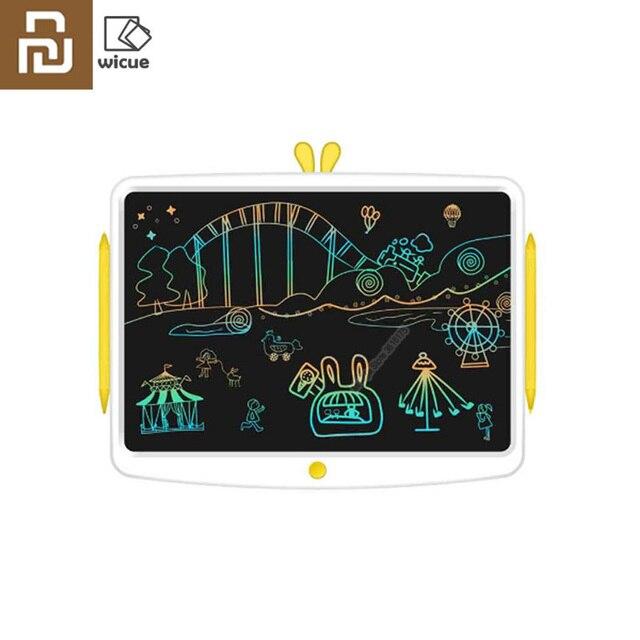 Youpin Wicue Rainbow LCD เขียนแท็บเล็ต 16in เขียนด้วยลายมืออิเล็กทรอนิกส์จินตนาการกราฟิกสำหรับเด็กขนาดใหญ่