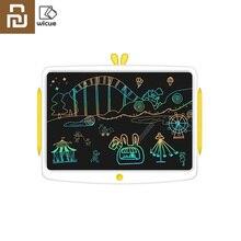Youpin wicue rainbow lcd escrita tablet 16in placa de escrita desenho eletrônico imagine gráficos almofada para criança grande tela