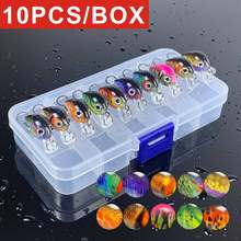 10 Pieces Mixed Colors Hard Lures Fishing Crankbait Bass Lure Lot With Box Crank Baits Trout Lure MinnowWobbler For Fishing