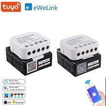 Умный Wifi выключатель Tuya/ Ewelink, модуль управления приложением DIY, 16 А, поддержка внешнего Смарт переключателя, работает с Alexa Google Home