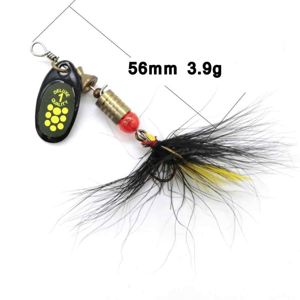 10 pz/lotto esche da pesca cucchiaio spinner bait 2.5-4g wobbler pesca in metallo esche spinnerbait isca artificiale di trasporto con box