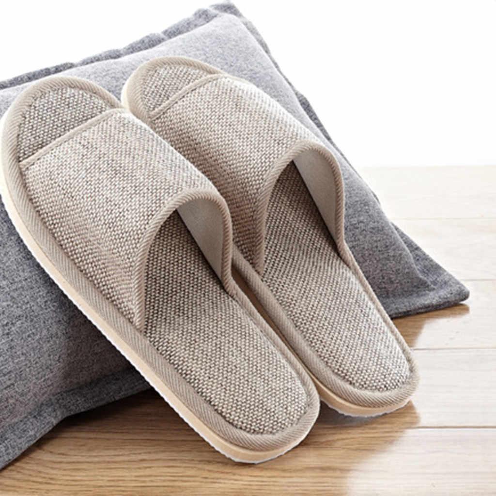 2019 บุรุษสตรีคู่แฟชั่นสบายๆรองเท้าแตะภายในบ้านรองเท้าสบายๆเปิดนิ้วเท้ารองเท้าแตะชั้นรองเท้าแบนรองเท้าแตะ