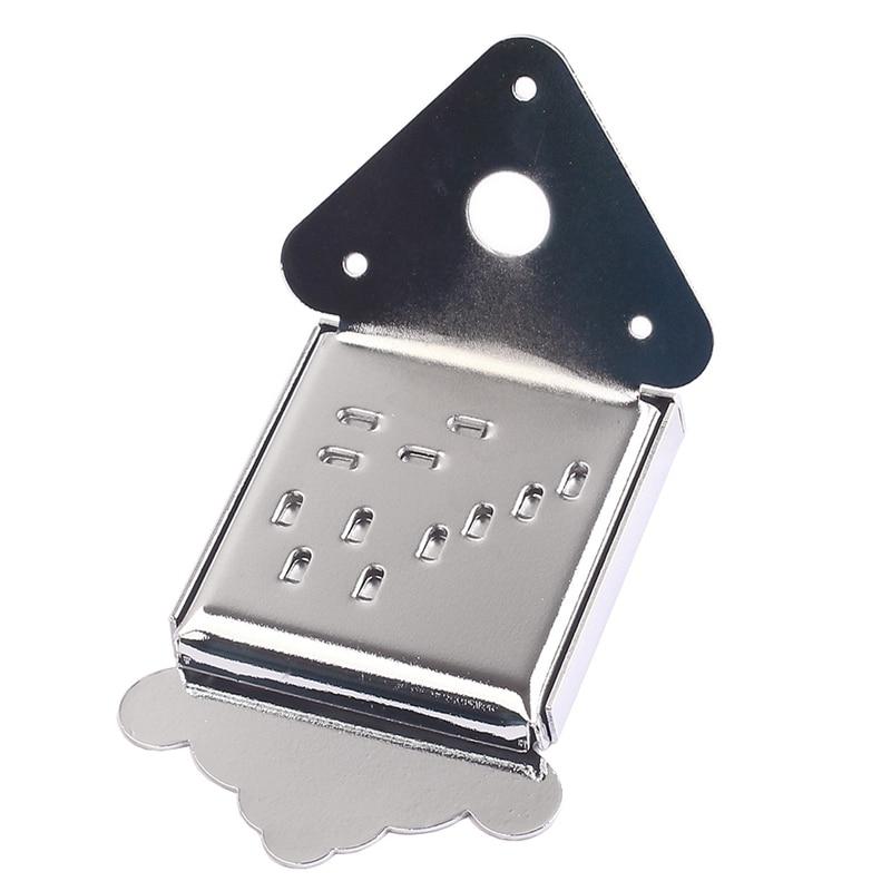 Chrome Mandolin Guitar Tailpiece With Cover And Screws For Mandolin Guitar Parts Accessories