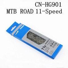 Cn hg901 corrente 11 etapas de velocidade e6000 CN-HG901 mtb peças de ligação rápida bicicleta hyperglide SIL-TEC 116 links 11 s 116l 11v