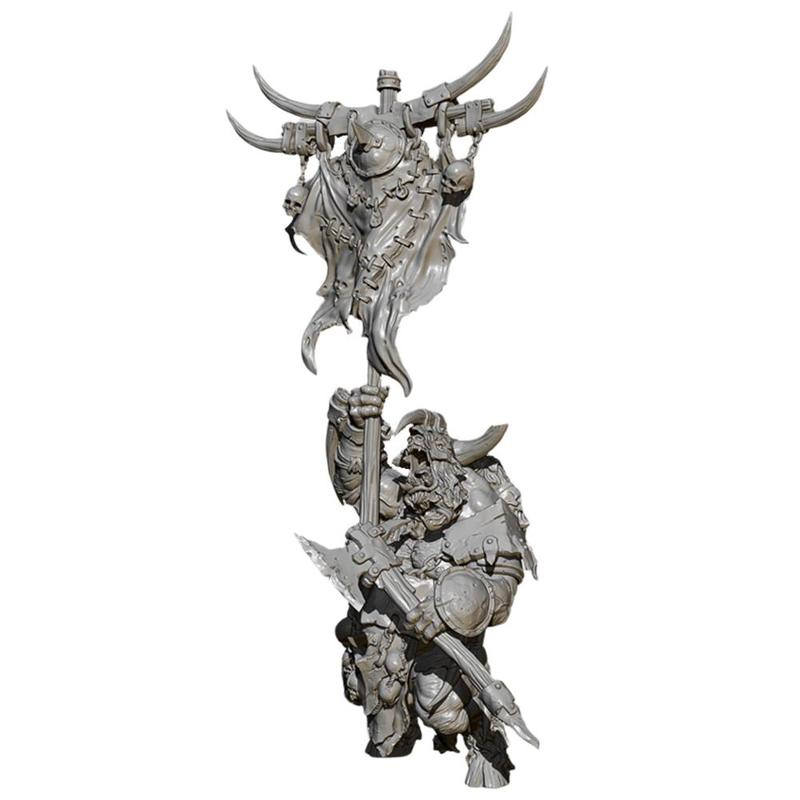 <font><b>1/24</b></font> <font><b>75mm</b></font> <font><b>Resin</b></font> Figure <font><b>Model</b></font> <font><b>Kits</b></font> Minotaur Warrior Carrying Flag <font><b>Resin</b></font> Soldier White <font><b>Model</b></font> Self-assembly <font><b>Resin</b></font> Soldier <font><b>Model</b></font> Toy image