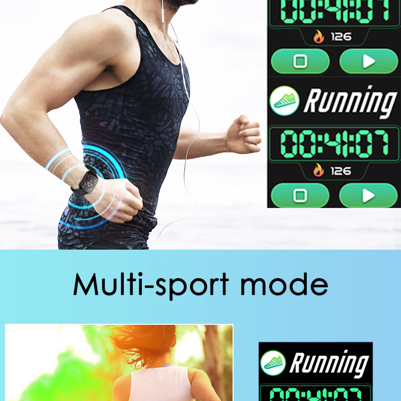 F9 s PK iwo8 b57 Touch Screen smart watches to Monitor Heart rate and Blood pressure Supported for IOS Android for men women 14