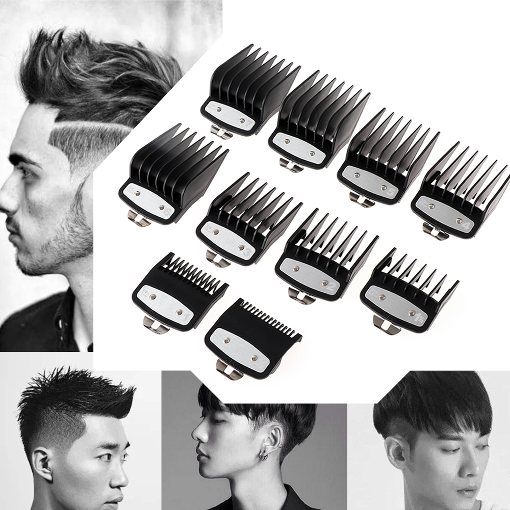 1Pc 10 Sizes Fashion Men Hair Clipper Limit Comb Salon Barber Cutting Guide Replacement Attachment Hair Trimmer Styling Tools