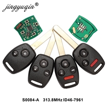 jingyuqin Remote Key for S0084 A 313.8MHz for Honda CIVIC STREAM with ID46 (7961) Chip Car Alarm Control