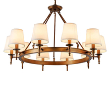 American Country Chandelier Idyllic Retro Wrought Iron Living Room Chandelier European-style Bedroom Dining Room Chandelier chandelier lighting restaurant minimalist living room bedroom creative american european retro chandelier iron lights chandelier