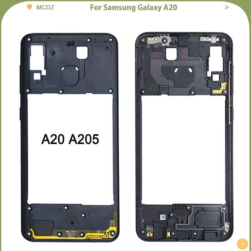 New Middle Frame For Samsung Galaxy A20 A205 / A30 A305 / A40 A405 / A50 A505 Mid Bezel Frame Back Housing Case Part