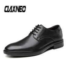 Buy CLAXNEO Man Leather Dress Shoes Spring Autumn Male Formal Shoe Genuine Leather Oxfords Mens Wedding Footwear Big Size directly from merchant!