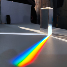 30x30x60mm Triangular Prism BK7 Optical Prisms Glass Physics Teaching Refracted Light Spectrum Rainbow Children Students Present