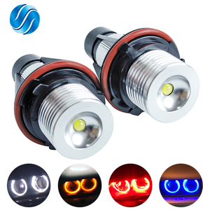 1 Set 2*5W 10W LED Marker Angel Eyes White/Blue/Red/Yellow for E39 E53 E60 E61 E63 E64