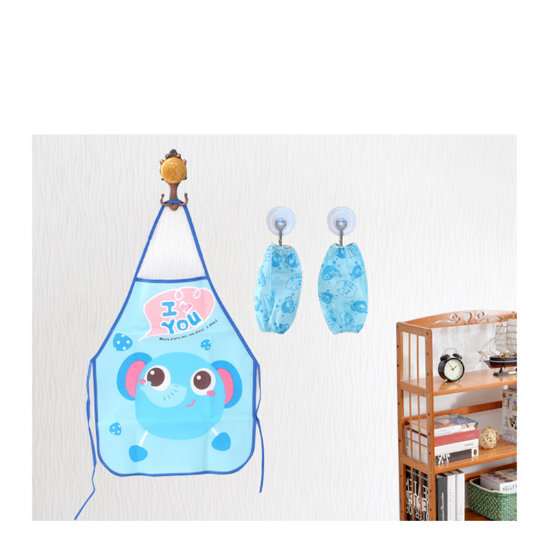 Creative home daily necessities waterproof apron cartoon children waterproof gown home kitchen apron sleeve set in Aprons from Home Garden