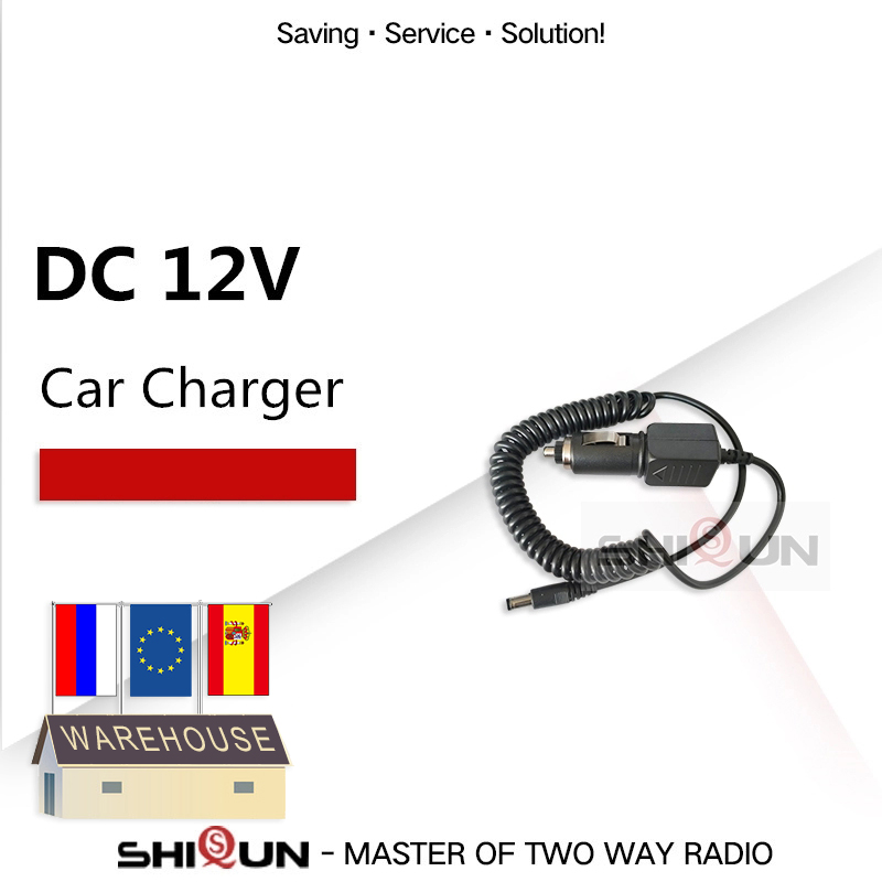 DC 12V Car Charger Cable For BaoFeng Walkie Talkie UV-9R UV-XR UV-5R UV-82 UV-5RA UV-5RB UV-5RC UV-5RE UV-B5 Radio Accessories