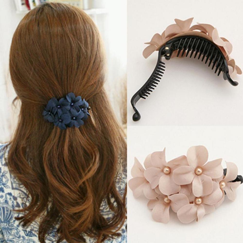 Chic Women Handmade Flower Girl Jewelry Barrette Women's Fashion Hair Accessories Hair Clip Hair Pin Claw Wholesale