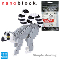 Kawada Nanoblock NBC-166 кольцо хвостовое Lemur мини серия 130 штук новые алмазные строительные блоки креативные игрушки для детей