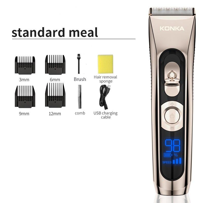 Многофункциональная машинка для стрижки волос KONKA, профессиональный электрический триммер для волос, машинка для бороды