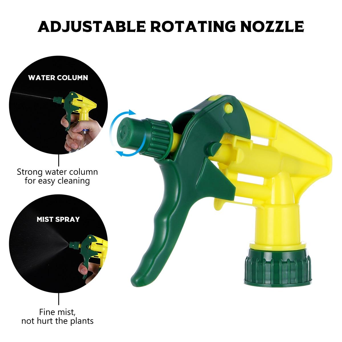 10pcs Universal Spray Bottle Trigger Replacement Plastic Spray Nozzles Thicken Sprayer Replacement Trigger Spray Tops Spray Head-1