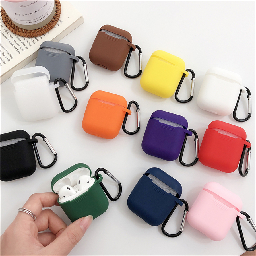 Mini Soft <font><b>Silicone</b></font> <font><b>Case</b></font> For <font><b>Apple</b></font> <font><b>Airpods</b></font> Shockproof Cover For <font><b>Apple</b></font> <font><b>AirPods</b></font> Earphone <font><b>Cases</b></font> for Air Pods Protector <font><b>Case</b></font> image