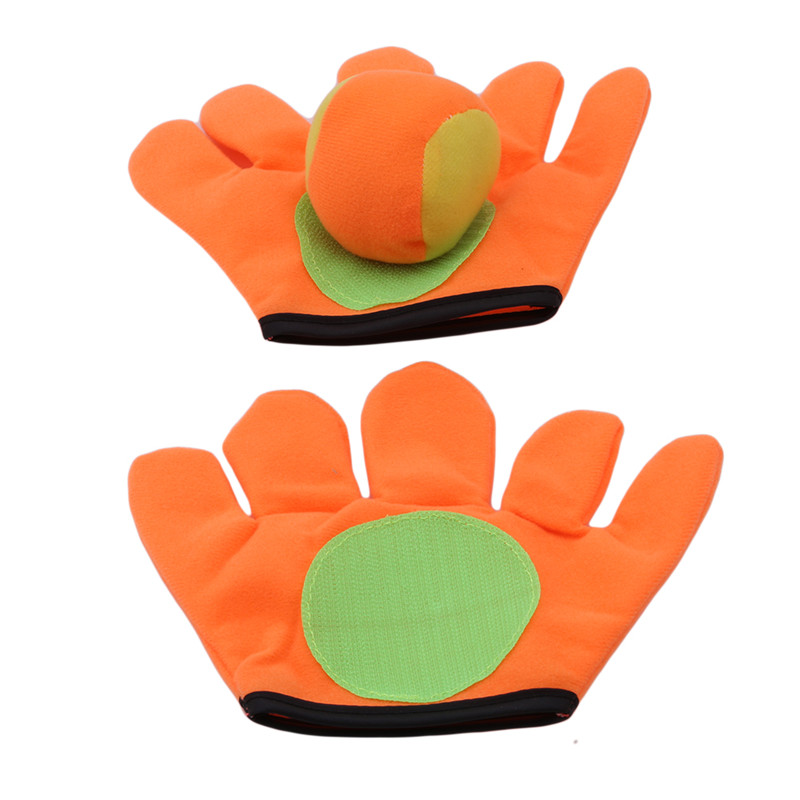 Small/large Gloves Sticky Ball Outdoor Sports Game Throw Catch Balls Toy Gloves Set Sticky Mitts Kids Playing