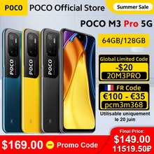 [Мировая премьера] глобальная версия POCO M3 Pro 5G NFC Dimensity 700 смартфон 90 Гц 6,5