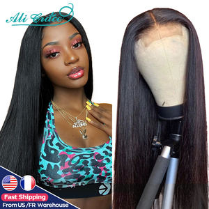 Ali Grace Straight Lace Closure Wigs 4x4 Closure Wig Human Hair Wigs With Baby Hair Brazilian 13x6 Lace Front Human Hair Wigs(China)