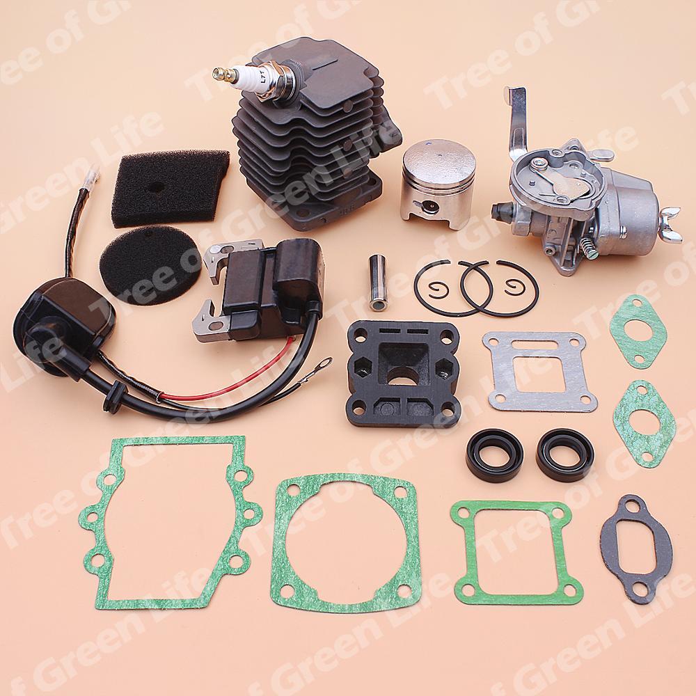 home improvement : 40mm Cylinder Piston Carburetor Ignition Coil Kit For Robin NB411 CG411 Air Filter Element Intake Manifold Gasket Oil Seal Set
