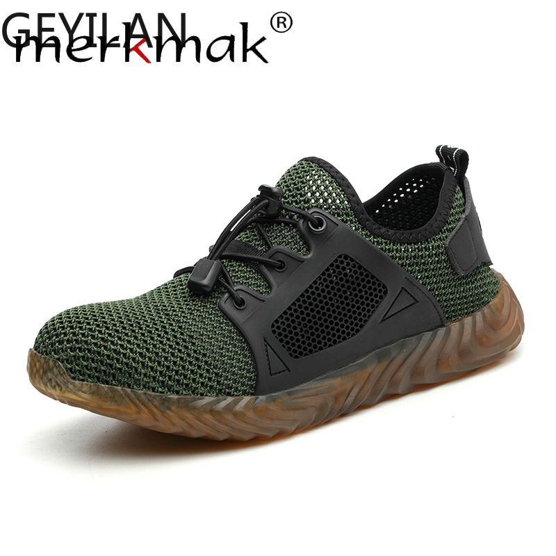 Dropshipping Indestructible Ryder Sneakers Shoes Men And Women Steel Toe Air Safety Boots Puncture-Proof Work Breathable Shoes