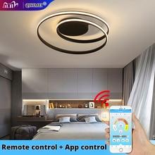 Modern Chandeliers LED Lamp For Living Room Bedroom Study Room White black color surface mounted lights Lamp Deco AC85 265V