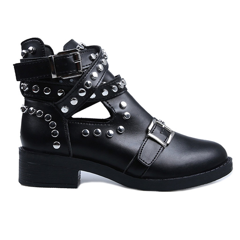 US $18.99 44% OFF SAGACE Boot kobiety moda nit klamry pasa botki na buty damskie Student obuwie damskie 2019 dużych rozmiarów pojedyncze buty w Buty