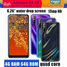 4G LTE M21s 4G Android смартфоны 64G ROM Quad Core13MP Face ID 6,26 дюймовый экран Waterdrop разблокированные мобильные телефоны