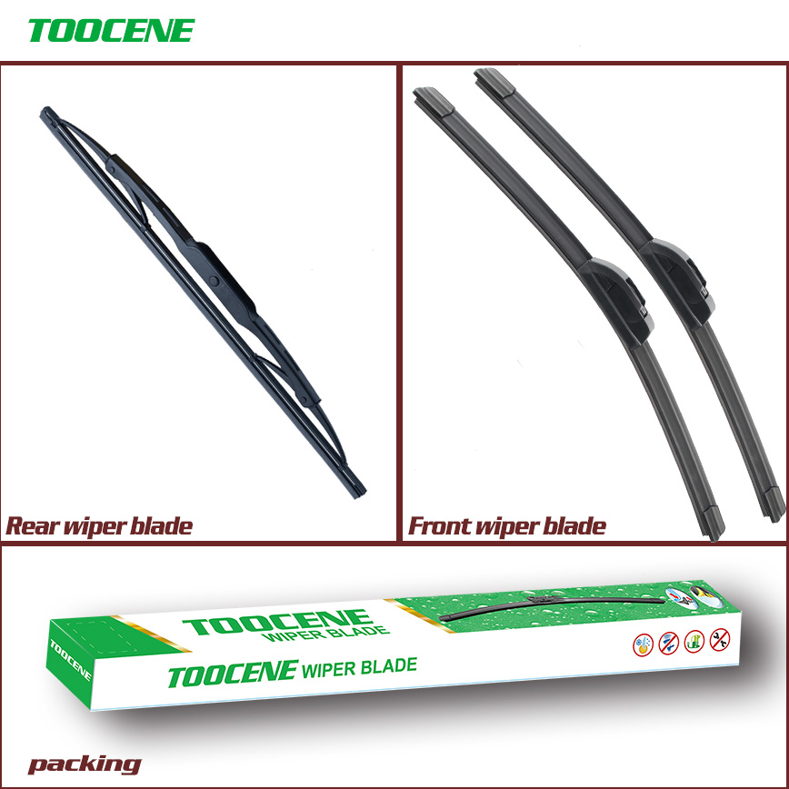 Front and Rear Wiper Blades For Ford Fusion 2002 2008  size 22+16+11 Windscreen Windshield Wipers Auto Car Styling|wiper blade|rear wiper blade|windshield wiper - title=