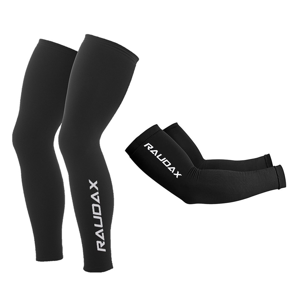2019 Fashion 2021 Pro Team Raudax Leg Warmers Black Uv Protection Cycling Arm Warmer Breathable Bicycle Running Racing Mtb Bike Leg Sleeve Special Summer Sale