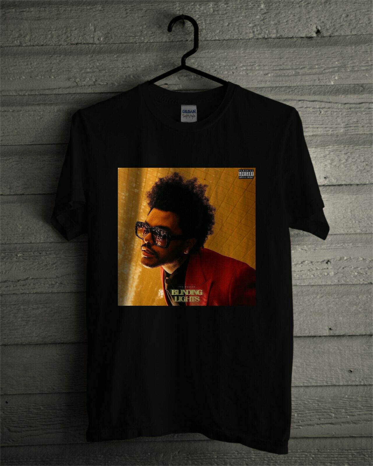 The Weeknd Blinding Lights Album Cover T Shirt