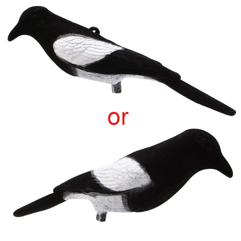 Magpie Bird Painted Decoy Shell Outdoors Shot Hunting Shooting Lures Bait Tool Q1JE