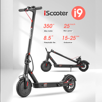 25Km/h Adult Electric Scooter For iScooter i9 Electric Scooter Kick Fold Scooter Powerful 350W 7.5AH Mini E Scooter Wholesale 1